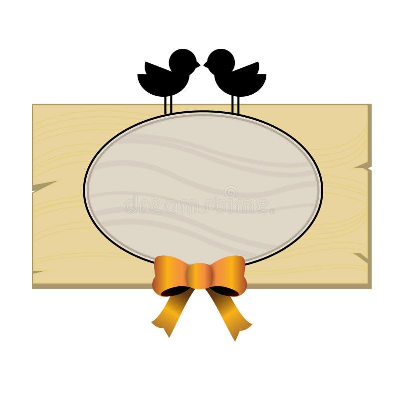 Wooden plaque stock illustration