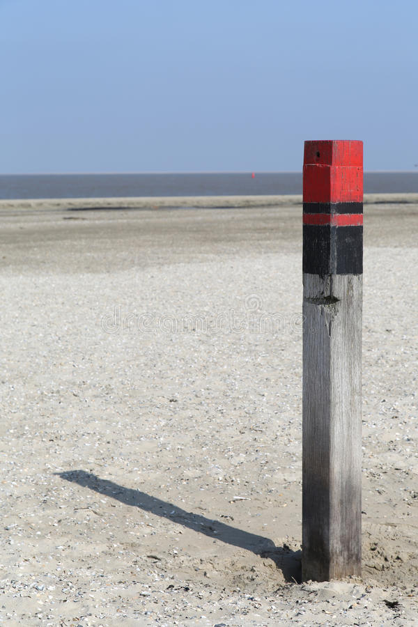 Wooden Pole Texel - 2 Stock Photography