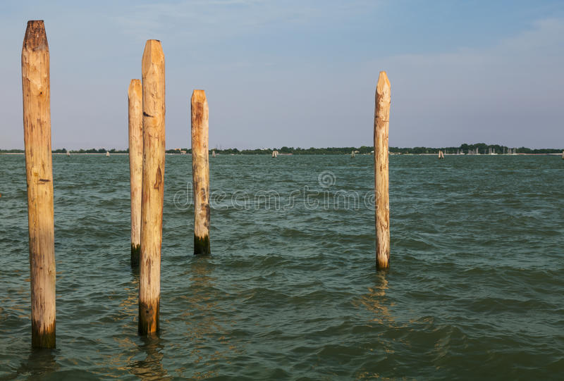 Download Wooden Poles stock image. Image of canal, landmark, wooden - 28514659