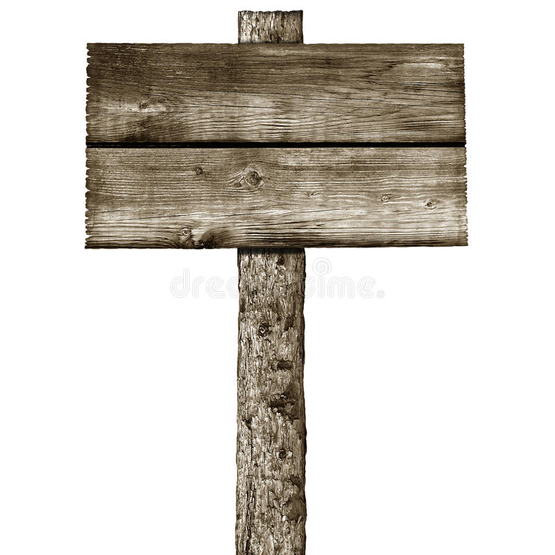 Wooden Post: Wooden Post With Signboard Royalty Free Stock Photos