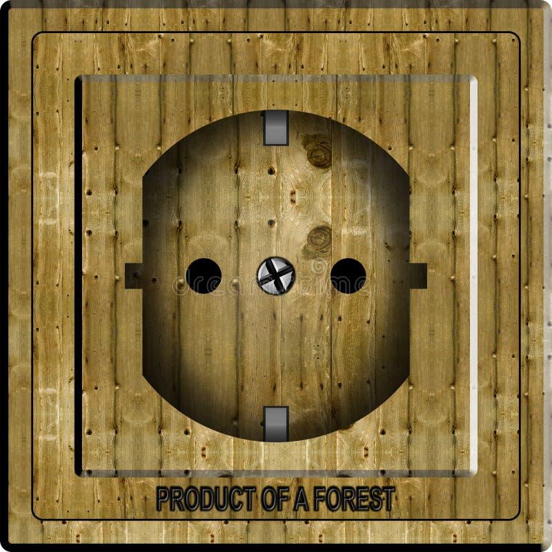 Download Wooden power socket stock illustration. Illustration of nature - 20454506