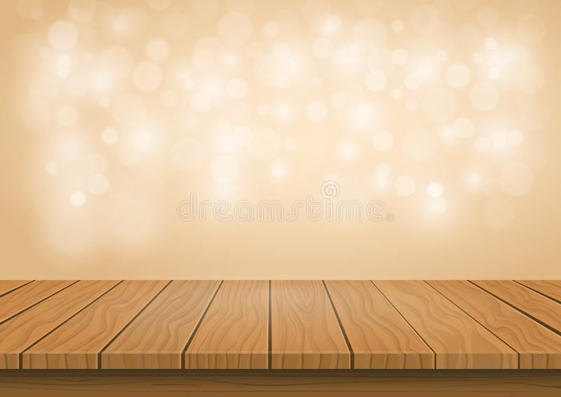 Wooden board top on transparent background stock illustration