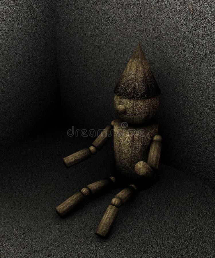 Download Wooden puppet stock illustration. Illustration of dark - 21045330