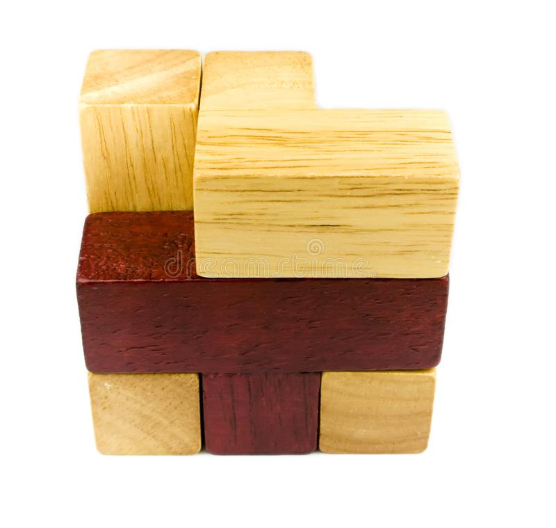 Wooden puzzle royalty free stock image