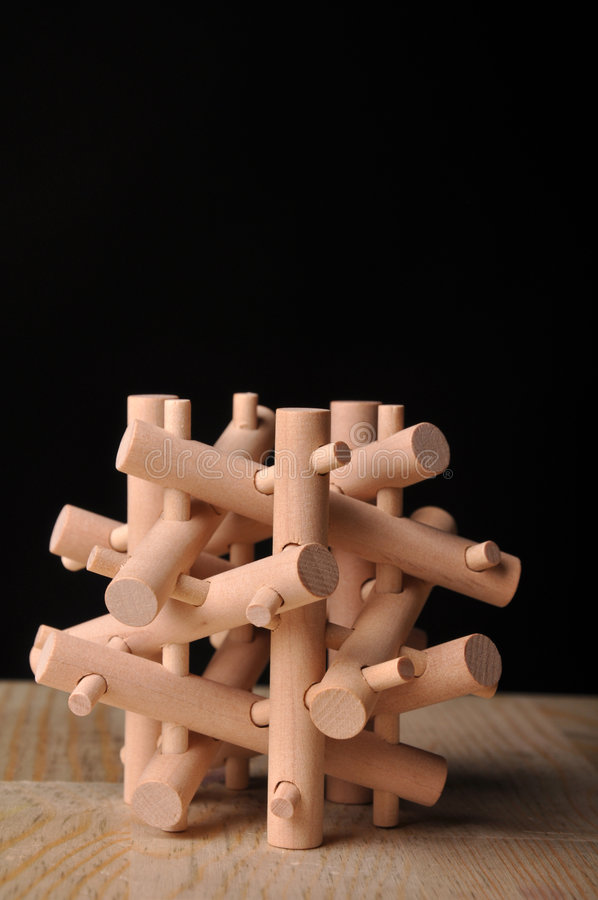 Download Wooden puzzle stock image. Image of challenge, connected - 7733587