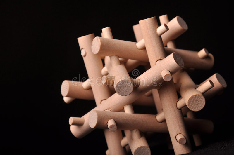 Download Wooden puzzle stock photo. Image of disjoint, pins, pattern - 7733668