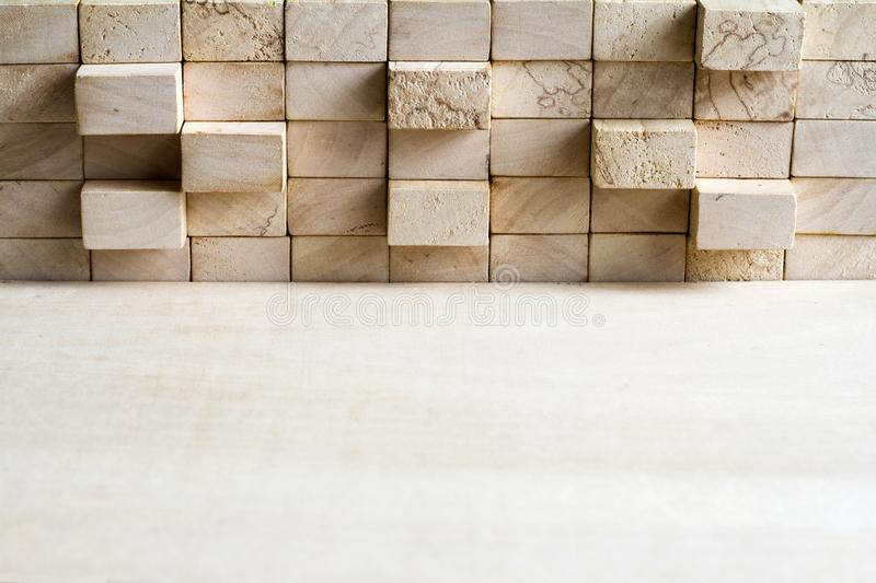 Wooden puzzle and block abstract team corporation background concept. Closeup stock images