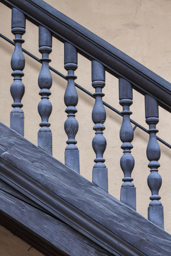 Download Wooden Railing Of An Antique Staircase Stock Photo - Image: 29983640