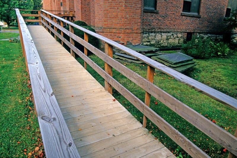 Wooden ramp stock photo
