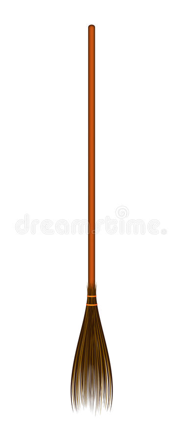 Wooden Realistic Broom Royalty Free Stock Photography