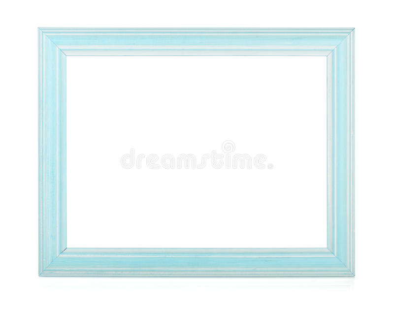 Wooden rectangular photo frame stock photo