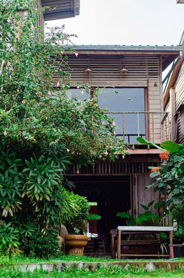 Wooden residences in Thailand royalty free stock photography