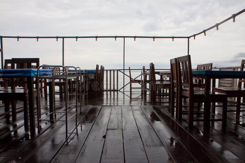 Wooden restaurant stock photos
