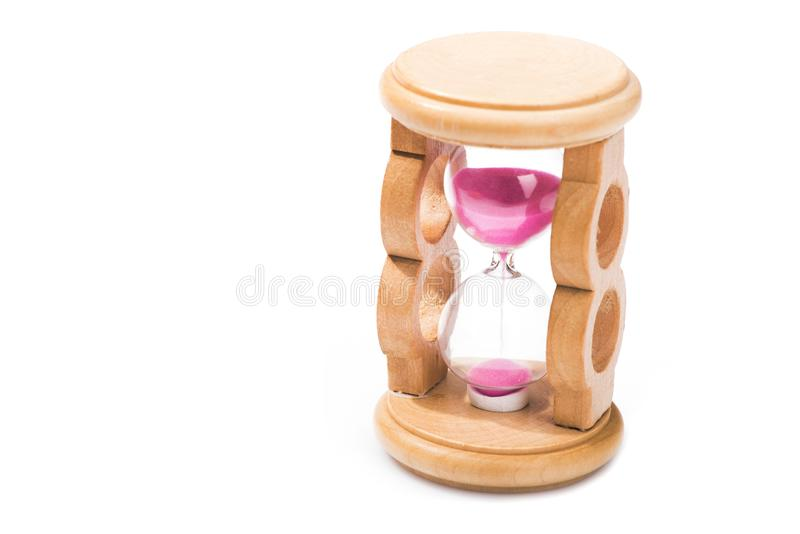 wooden retro hourglass isolated royalty free stock photos