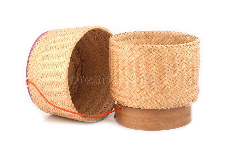Download Wooden rice box thai style stock image. Image of concept - 26805803