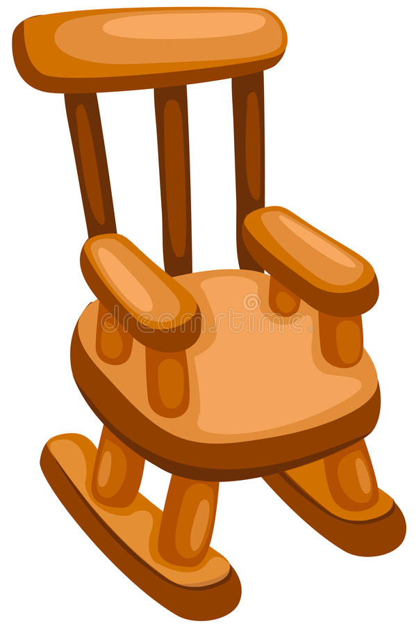 Wooden rocking chair royalty free illustration