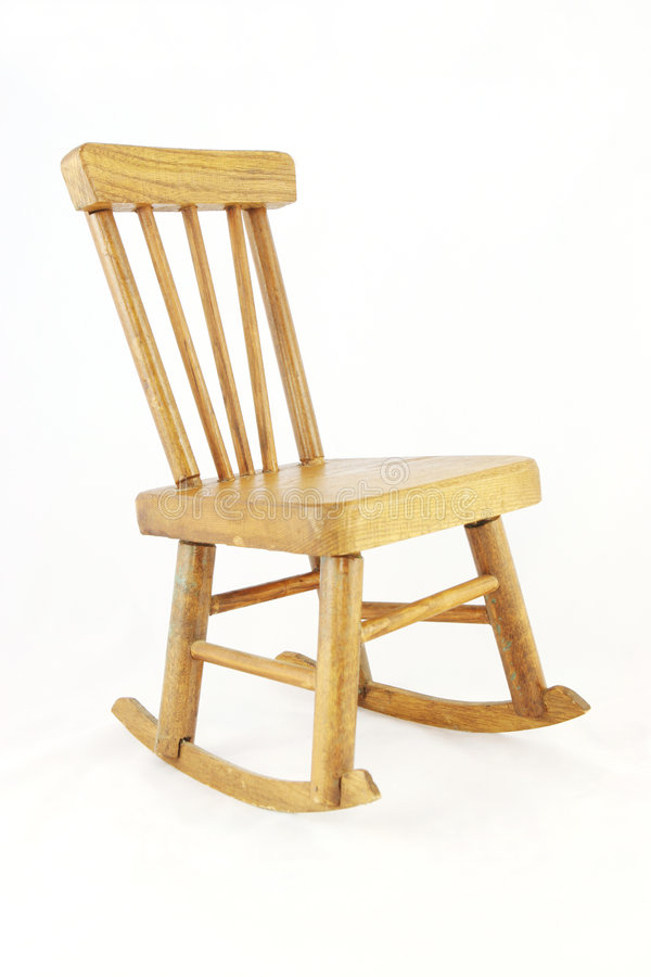 Wooden Rocking Chair Royalty Free Stock Photography