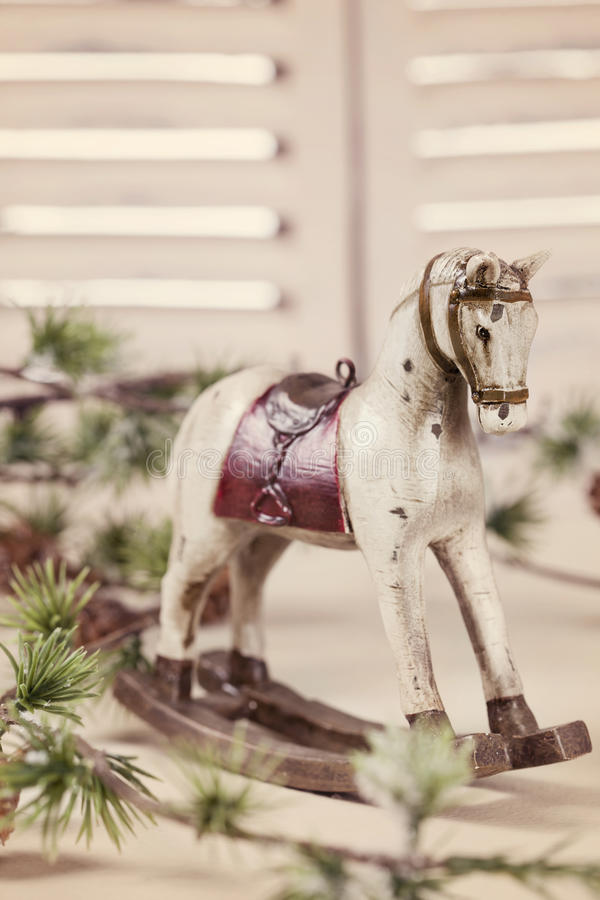 Download Wooden rocking horse stock image. Image of rustic, retro - 27901539
