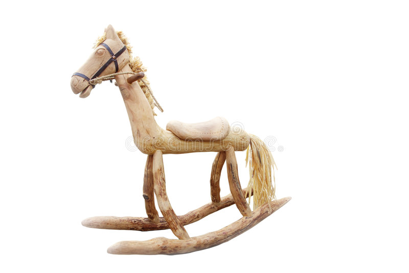 Wooden Rocking Horse stock photo