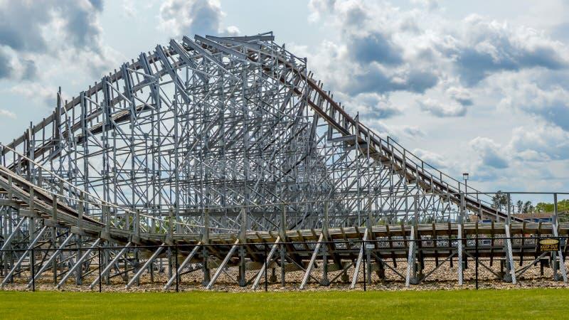 Wooden Roller Coaster - Wisconsin Dells стоковая фотография rf