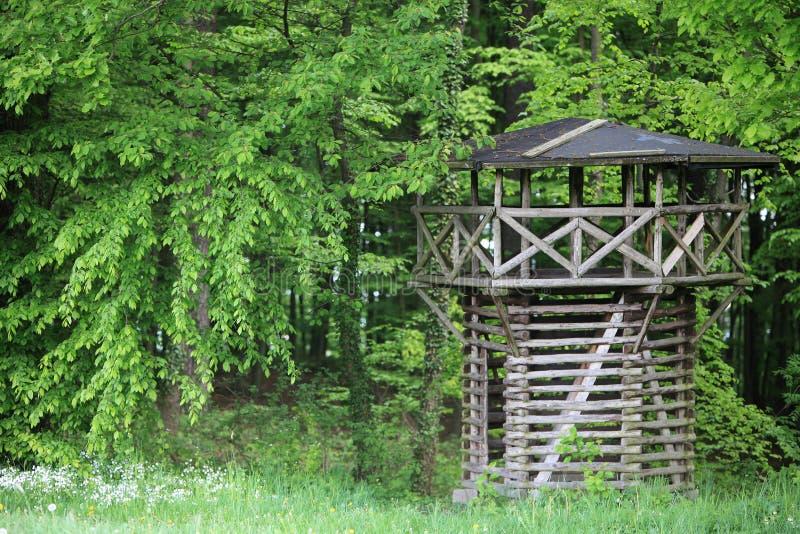 Wooden Roman Limes outlook tower. A wooden Roman Limes outlook tower royalty free stock image