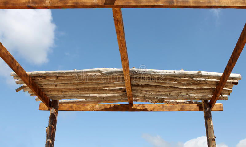 Download Wooden Roof in Progress stock image. Image of carpentry - 33997859