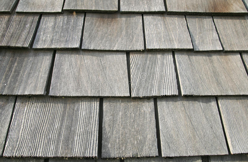 Wooden roof shingles stock photography