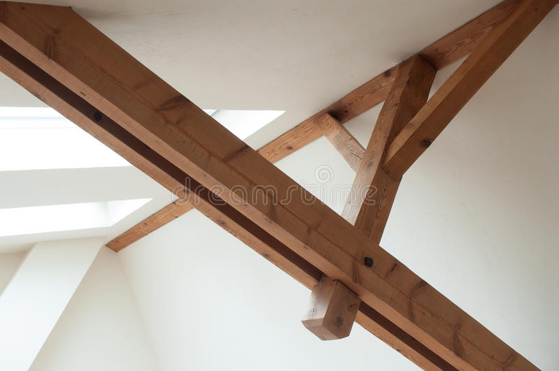 Wooden roof structure royalty free stock photo