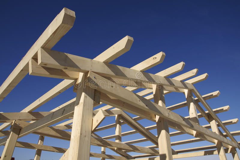 Wooden Roof During Under Construction Stock Image Image