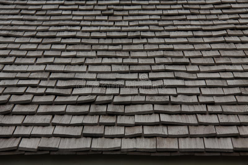 Wooden roofing material. texture. thatch. The texture of wooden tiles. roofing material. thatch stock photo
