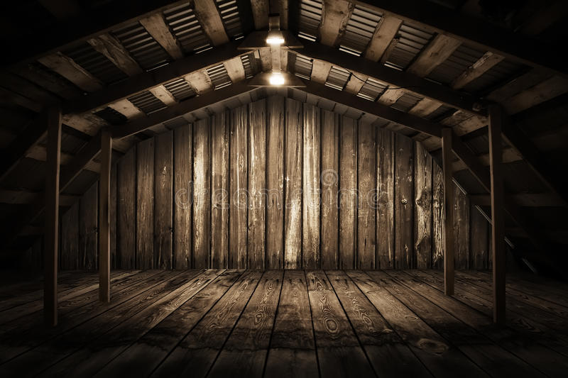 Download Wooden room stock image. Image of interior, dark, electricity - 19679139