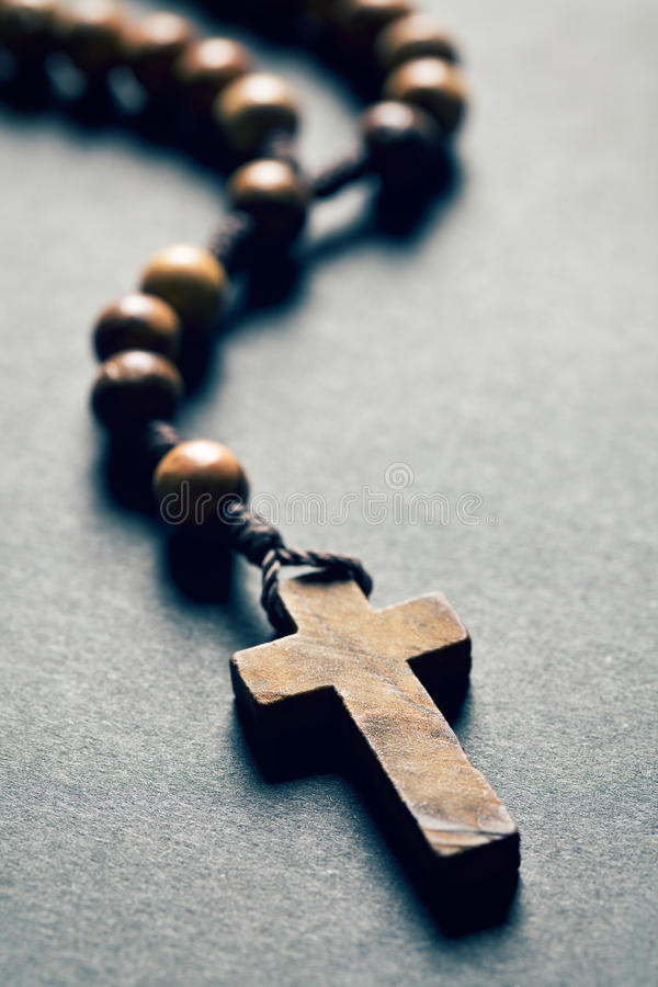 Free Wooden Rosary Beads Stock Images - 44071014