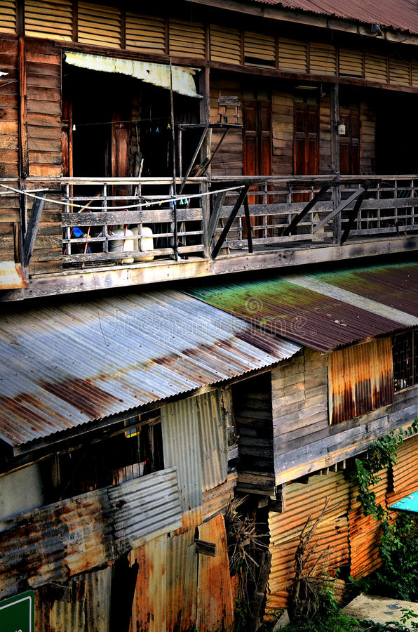 Download Wooden   Row House, Thailand Style. Stock Photo - Image: 24609482