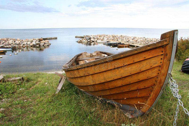 Wooden Rowboat Stock Photography