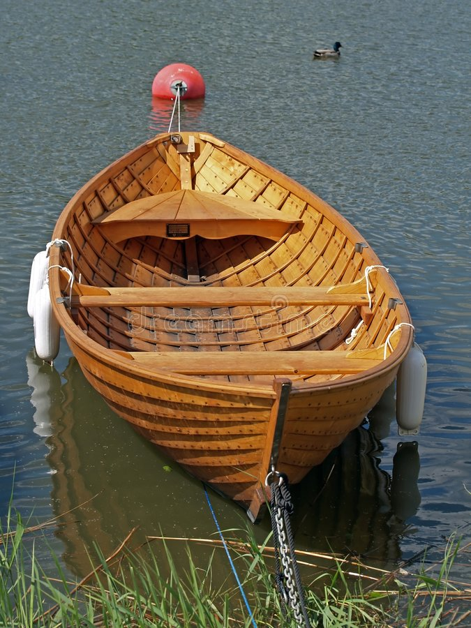 Wooden rowing boat stock image. Image of travel, sailing ...