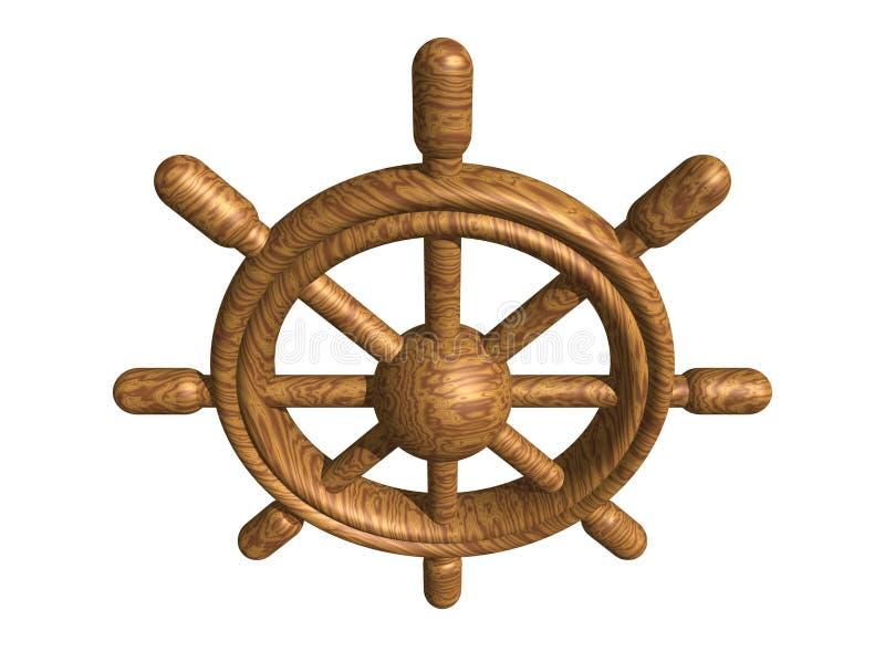 Download Wooden rudder stock illustration. Illustration of navigator - 420341