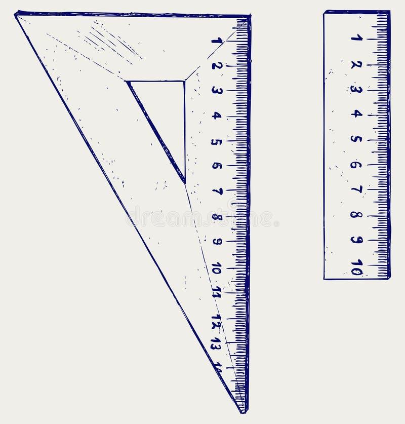 Wooden rulers vector illustration