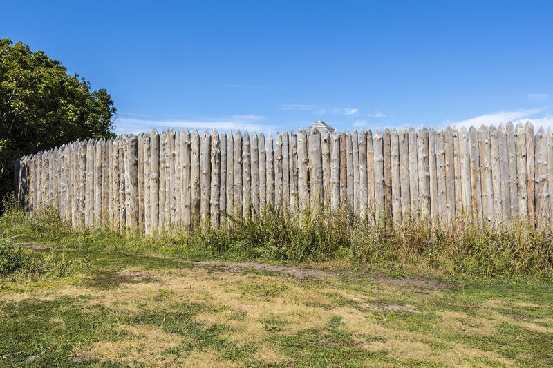 Wooden rural fence royalty free stock photos