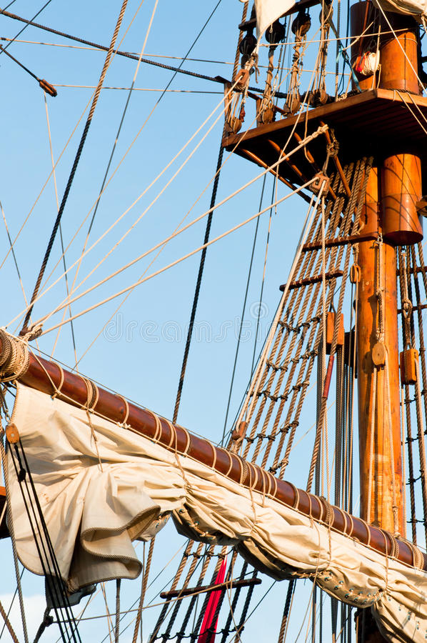 Download Wooden Sail Boat stock image. Image of rope, stair, exploration - 14623829