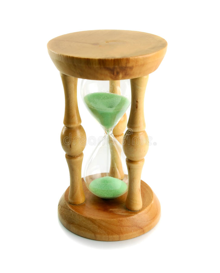 A wooden sand-glass stock photo