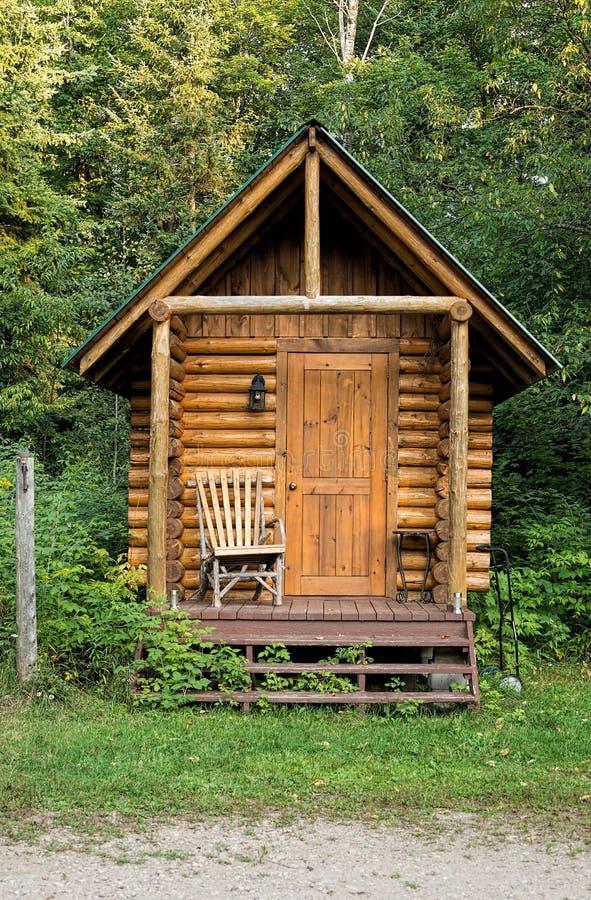 Wooden sauna building stock photo