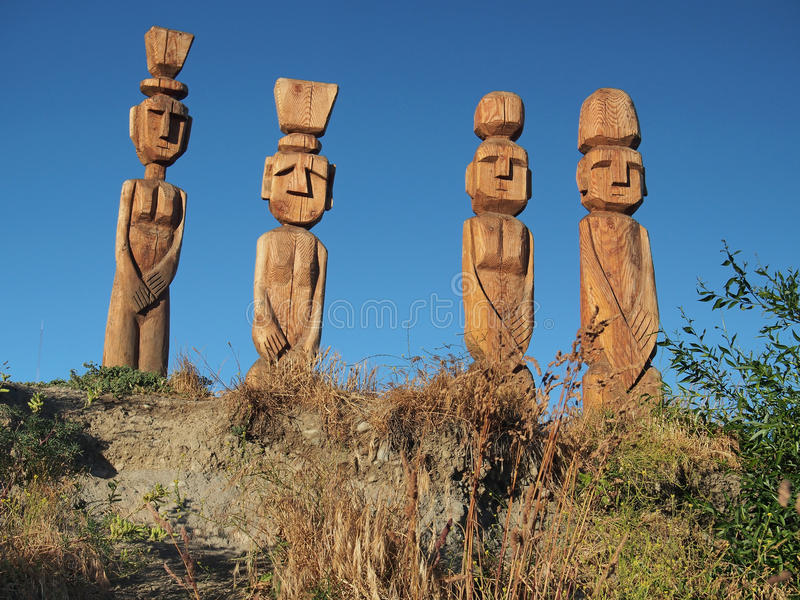 Wooden sculpture stock photo