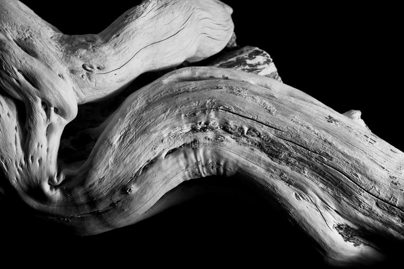 Wooden sculpture. On black background royalty free stock image