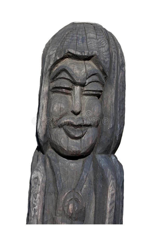 Wooden Sculpture Isolated Royalty Free Stock Photos