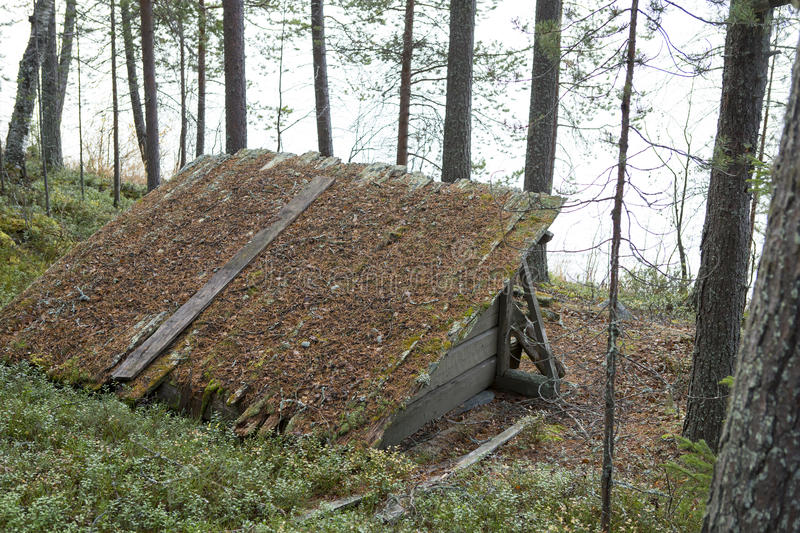 Wooden shelter royalty free stock photos