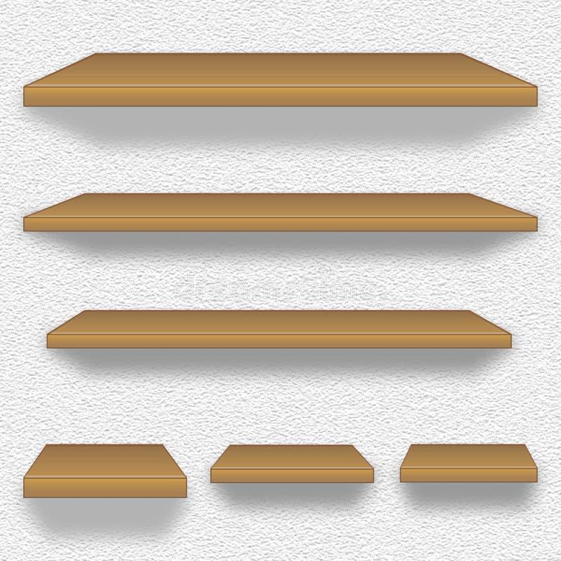 Download Wooden shelves stock illustration. Image of nail, vector - 30449262