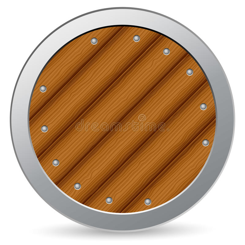 Download Wooden shield stock vector. Image of safety, safe, metal - 20747553