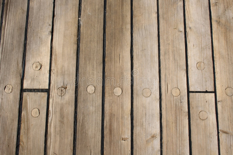 Wooden ship deck. As background stock image