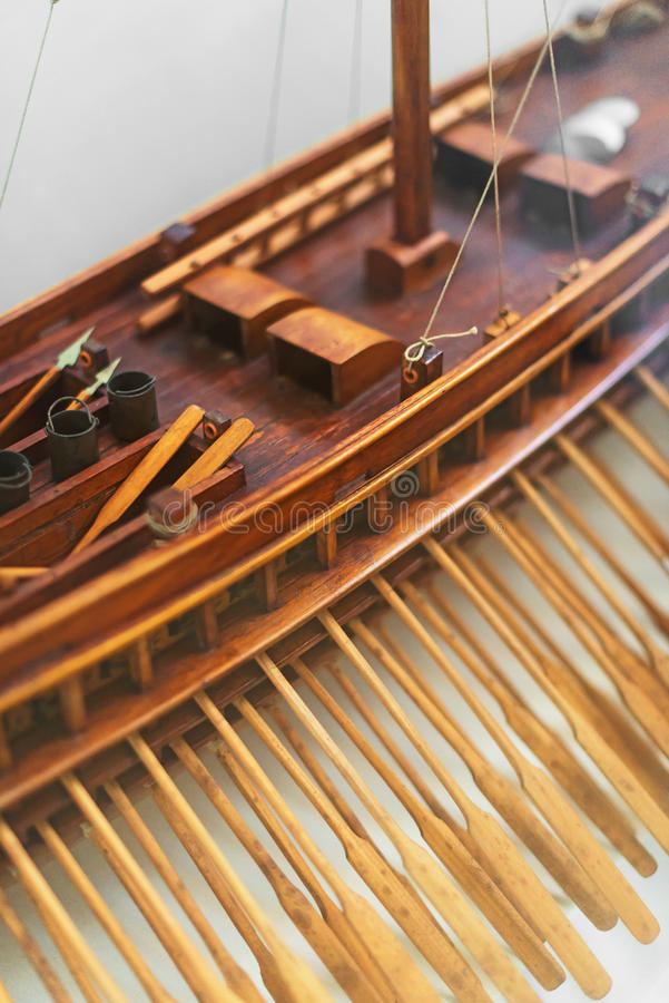 Wooden ship model. Wooden ship model in the maritime museum royalty free stock image