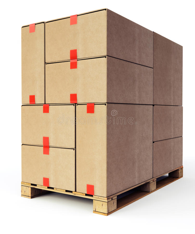 Wooden Shipping Pallet Stock Image